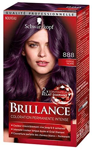 Schwarzkopf - Brillance - Coloration Cheveux Permanente Intense - Eclat de Nuit Cerise Noire 888