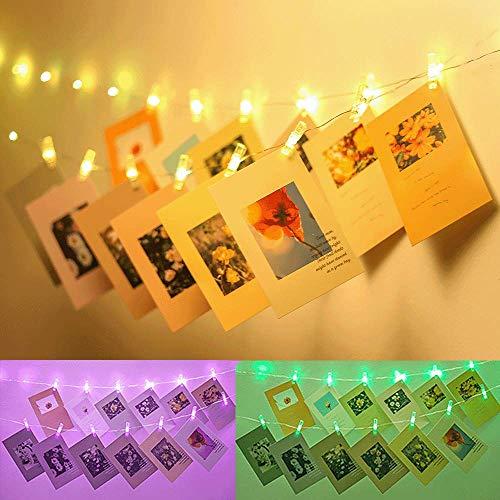 Led Fotoclips Lichterkette, Infankey 5M 50LED Foto Lichterkette mit 50 Klammern & 10 Nägeln, USB/Batteriebetrieben Stimmungsbeleuchtung, Lichterkette mit Klammern für Fotos für Wohnzimmer,Weihnachten