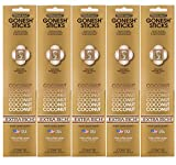 Gonesh Incense Sticks Extra Rich Collection - Coconut 5 Packs (100 Total)