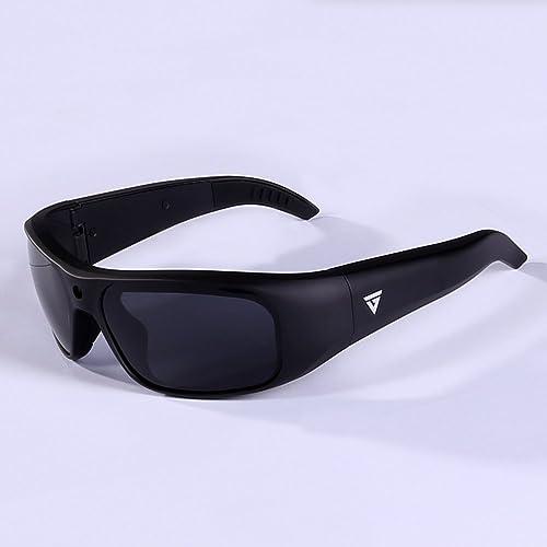 5da69615cc GoVision Apollo 1080p HD Camera Glasses Water Resistant Video Recording  Sport Sunglasses - Black