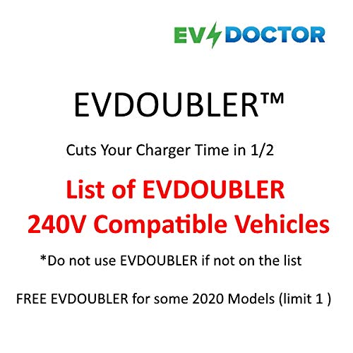 Latest List of EVDOUBLER 240V Compatible Vehicles (See All Photos)