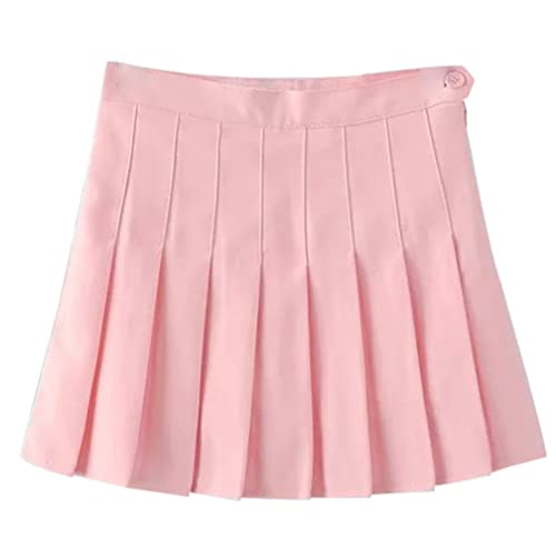 d1254280b5 Yasong Women Girls Short High Waist Pleated Skater Tennis Skirt School Skirt  Uniform With Inner Shorts
