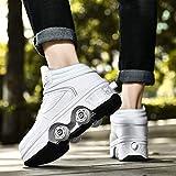女性用ローラースケート、LED 2-in-1多目的靴、調整可能なクワッドローラースケート、2列変形靴、初心者に適したインラインスケート,EUR35