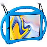 TopEsct Case for Samsung Galaxy Tab A 8.0(2018) SM-T387, Silicone Kids Shock Proof Convertible Handle Protective Cover Compatible with Samsung Galaxy Tab A 8.0 Inch 2018 Release Tablet (Blue)