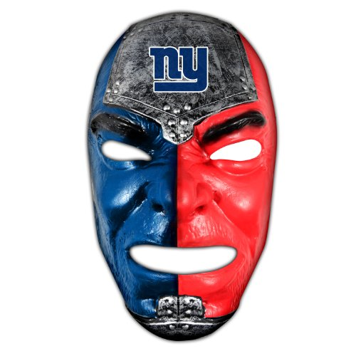 Franklin Sports NFL New York Giants Fan Face Mask - Team Fan Masks for NFL Football Games and Tailgates - Sports Fan Face Mask - Face Paint Masks