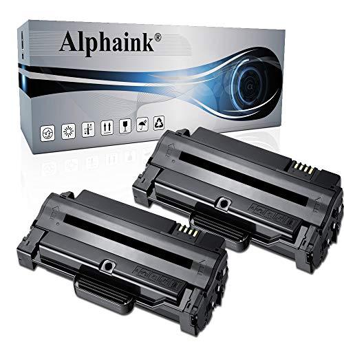 2 Toner Alphaink Compatibile con Samsung MLT-D1052L per stampanti Samsung ML-1910 ML-1915 ML-2525 ML-2525W ML-2540 ML-2545 ML-2580n SCX-4600 SCX-4623F SCX-4623fn SCX-4623FW SF-650 SF-650P (2 Toner)
