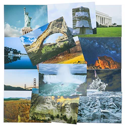 Best Paper Greetings Postkarten mit US-amerikanischen Monumenten (40er-Pack) – zum selbst Versenden, verschiedene nationale Monumente der Vereinigten Staaten, 20 Motive (2 Stück je Motiv)