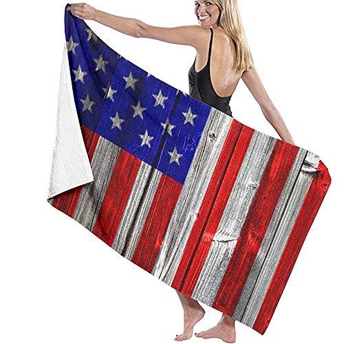 Abel Berth Bandera Americana de EE. UU. Toalla de Playa de poliéster Silla Gruesa Suave Secado rápido Toallas absorbentes Manta