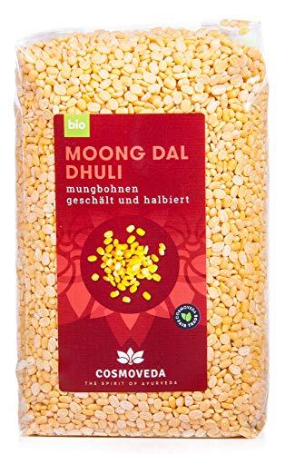 Cosmoveda Bio Moong Dal, Mungbohnen geschält , 500 g