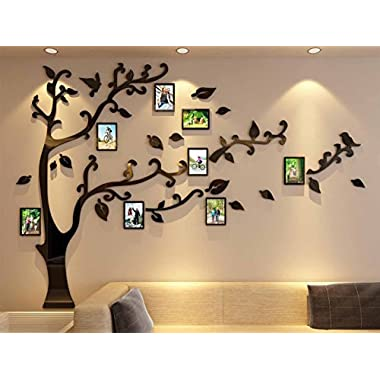 3d Picture Frames Tree Wall Murals for Living Room Bedroom Sofa Backdrop Tv Wall Background, Originality Stickers, Wall Decor Decal Sticker (70(H) x 98(W) inches)