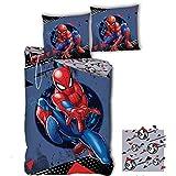 SPDM Spiderman Marvel Classic - Housse de Couette Enfant - Parure de lit 1 Place