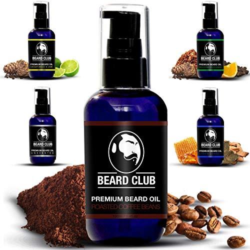Aceite Para Barba Premium   Roasted Coffee Beans   Deja tu Barba Suave, Sin Picor y Sin Escamas, Ayuda a su Crecimiento y Deja un Olor Increíble   Acondicionador Para Hombre 100% Natural Para Barba
