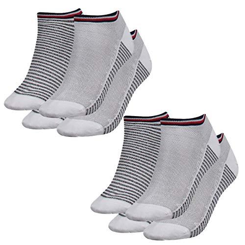 Tommy Hilfiger Damen Sneaker Resort 4er Pack, Größe:35-38, Farbe :White (300)