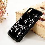 WGOUT para iPhone 6 6S TPU Funda de Gel de sílicepara iPhone 7 Plus X XS 11 12 Mini Pro MAX XR Black Cherry Blossom, para iPhone 6, Lavanda