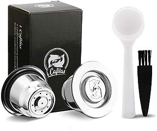 i Cafilas Nespresso Capsules de café rechargeables en acier inoxydable à remplir – Capsules de recharge réutilisables pour...