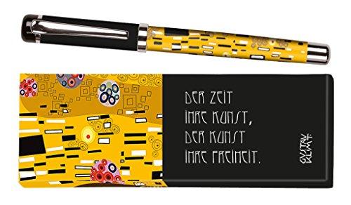 Moses libri_x Bolígrafo de tinta Jane Austen con mina intercambiable en una caja de regalo, color amarillo