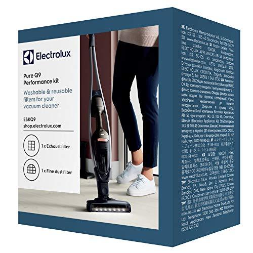 Electrolux ESKQ9 Filtre hygiénique 1 Filtre pré-Moteur 1 Filtration optimale, air Propre, Puissance d'aspiration améliorée, Lavable, Compatible Q9, Noir/Bleu
