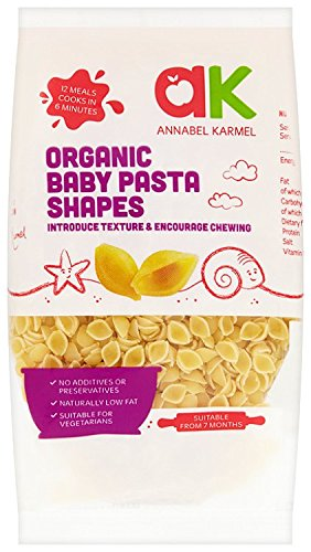 Annabel Karmel From 7 Months Organic Baby Pasta Shells 250 g (Pack of 8)