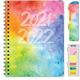 """14 Month Planner (June 2021 through July 2022) w/ MONTHLY TABS Size: 8.5"""" x 11"""" 2 Page Monthly Spreads followed by 2 Page Weekly Spreads EXTRA STRONG HARDCOVER & POCKET FOLDER on back inside cover **BONUS** Matching Bookmark/Page-Finder and **BONUS**..."""