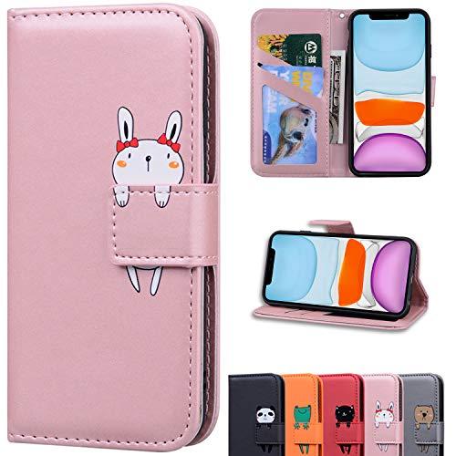 iPhone11 手帳型 レザーケース Snow Color カードポケット付き 衝撃吸収 スタンド機能付き 全面保護 電話ケース 携帯カバーアイフォン11 かわいい ケース - ローズゴールド