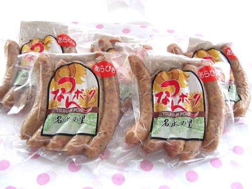 津南町 ウイルスフリーポークを手作りウインナーあらびき5本×6袋 (冷凍にて配送)