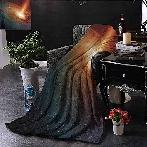 Vier seizoenen licht en super zacht Spiral Galaxy System in Deep Space Stardust View van Telescope Image Gezellige en Duurzame Fabric-Machine Wasbaar