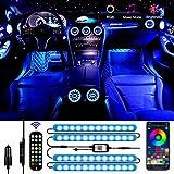 Luz Interior Coche, Aimocar luz LED coche Interior Tira Interior coche LED Iluminación Impermeable...