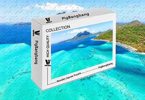 PigBangbang,Difficult Jigsaw Glue Premium Basswood - Bora Bora Hd France Best Beaches in The World - 1000 Piece Jigsaw Puzzle (29.5 X 19.6'')