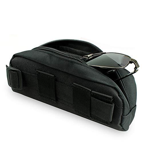 Gexgune Tactical Molle Estuche portátil para Gafas de Sol Gafas Bolsa Bolsa de Gafas al Aire Libre (Negro)