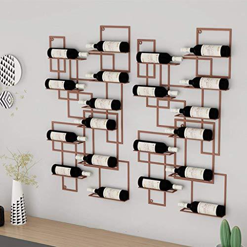 QSHG Weinglashalter Weinregal Schauen Komplizierte Dekoration Regal Klassische Bronze Fact Uniform Eisen Geschenk (Color : Brown)