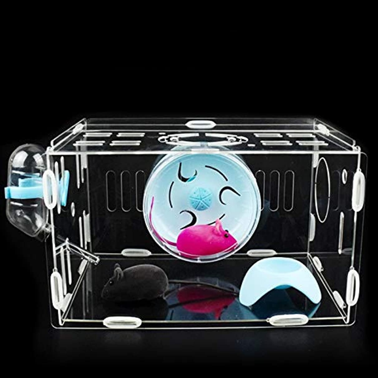 Hamster Cage - Transparent Acrylic Hamster Cage Large Luxury Castle Combination External Pipe Tunnel Fan Cage Small Pet House AP11211127