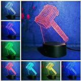 3D Led Night Light 3D Optical Illusion Bedside Night Lamp Anime 7 Colors Remote Control Optical Night Light Desk Touch Table Nightstand Lighting Perfect Gifts For Kids