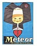Alsace Bière Meteor Affiche Poster Reproduction - Format 50X70 cm Papier 300 GR - Vente du fichier numérique HD Possible Nous Consulter (Boutique : affichevintage.FR)