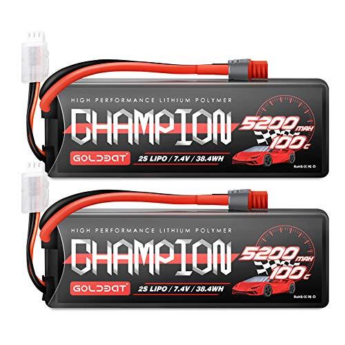 GOLDBAT RC Batterie 5200 mAh 7.4 V 2S 80C LiPo Batterie Akku mit Deans Stecker für RC Auto Boot LK