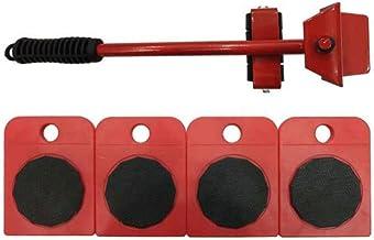 Kit de déplacement de meubles, avec 1 soulève-meuble pouvant soulever 150kg et 4 Packs 360 Degrés Meubles Rotatifs Kit,pou...