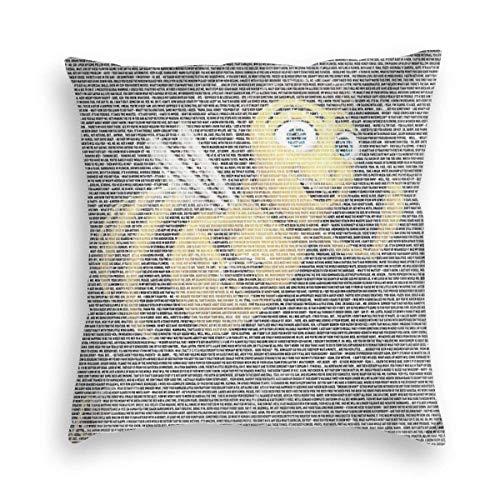 YPPDPP Barry (Entire) Bee (Movie Script) Benson Velvet Pillow Cases Cubierta de cojín Throw Pillow Cover Funda cojine