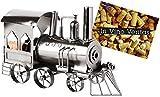 Brubaker Flaschenhalter Lokomotive Metall Skulptur Geschenk mit Geschenkkarte -