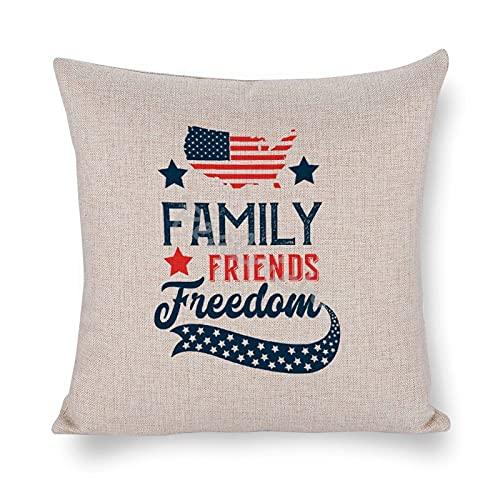 Bondgård prydnadskudde överdrag familj vänner frihet kvadrat kuddöverdrag bomull linne kasta örngott för bäddsoffa 45 x 45 cm