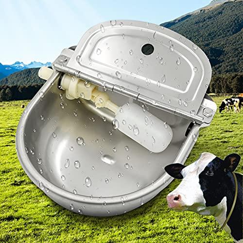 PROBEEALLYU Cuenco automático de agua de vaca de acero inoxidable, alimentador de agua de...