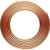 Tubo de cobre, diámetro exterior de 8 mm x diámetro de 6 mm x tubo de refrigeración de 6.56 pies, tubo de cobre de bobina suave para aire acondicionado (C1100 T2)
