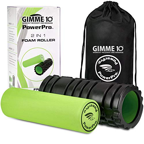 PowerPro 2-in-1 Foam Rollers. Trigger Point & Smooth Foam Rollers for Tight...