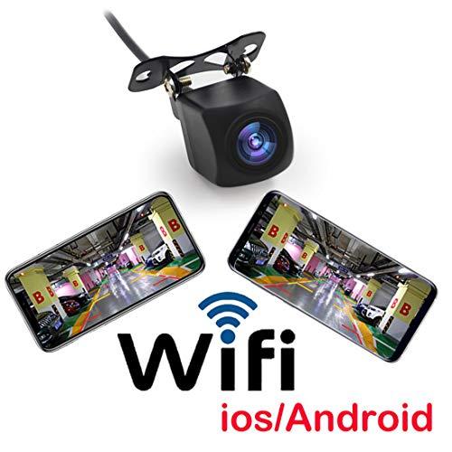 VIGORWORK - Mini cámara de marcha atrás, inalámbrica, WiFi, impermeable, compatible con sistema iOS/Android, monitor de dispositivos 120° ~150° gran angular HD
