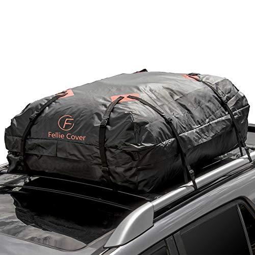 F Fellie Cover Faltbare Dachbox Auto Dachtasche 443L Auto Dachkoffer Gepäckbox Wasserdicht Tragbar Dachboxen Dachgepäckträger Tasche für Reisen und Gepäcktransport, 15.6 Kubikfuß, Schwarz