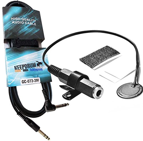 Drum Dial Drum Trigger Clip Mount + Keepdrum Trigger Cable 3m GC de 073
