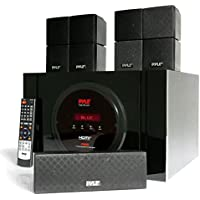 Pyle PT589BT 300W Bluetooth 5.1-Ch Home Theater with Built-in Subwoofer, 5 Speakers, Remote, FM Radio