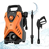 Paxcess Electric Power Wash Machine, Portable Pressure Car Washer with Adjustable Spray Nozzle Foam Cannon for Driveways, Patios and Washing Vehicles