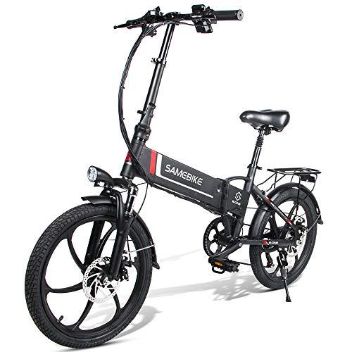 Fafrees Bicicleta Eléctrica Plegable Inteligente 48V 350W LCD Bicicleta Eléctrica Neumático de 20 Pulgadas (Carga USB 2.0 + Función de Alarma Antirrobo Remota)