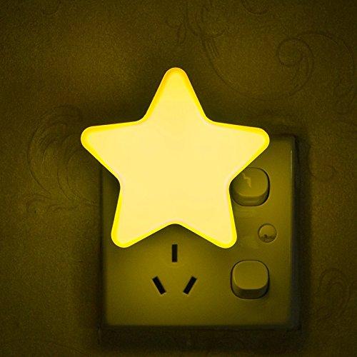 angju Star - Lámpara LED de luz nocturna para ahorro de energía para decoración de dormitorio de niños
