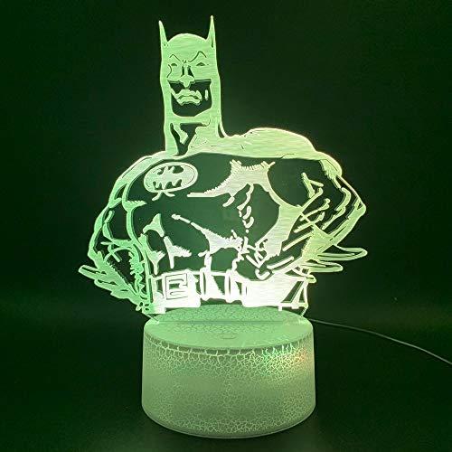 Payaso Luces Holograma Oficina Decoración para el hogar Luz Niños Regalo 3D Ilusión Led Lámpara de luz nocturna