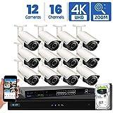 GW Security AutoFocus 4K (8MP) IP Camera System, 16 Channel H.265